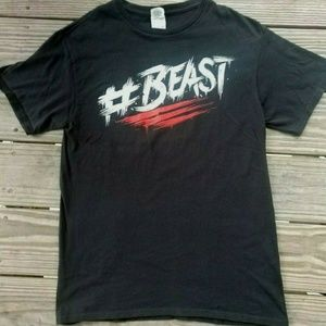 Men's Black T-shirt Hashtag Beast